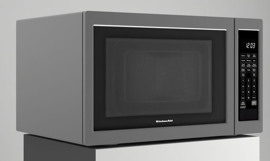 Microwave royalty-free 3d model - Preview no. 4