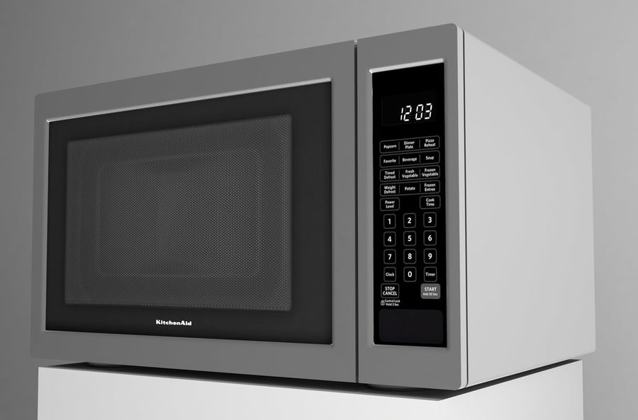 Microwave royalty-free 3d model - Preview no. 2