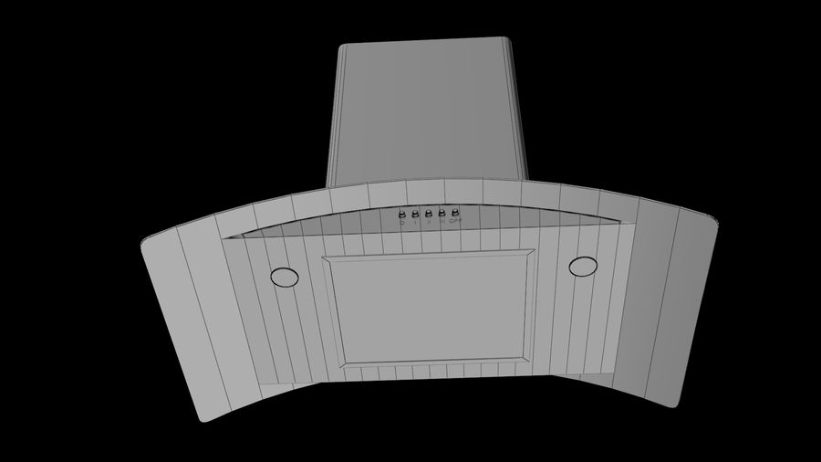 Cooker Extractor Hood royalty-free 3d model - Preview no. 5