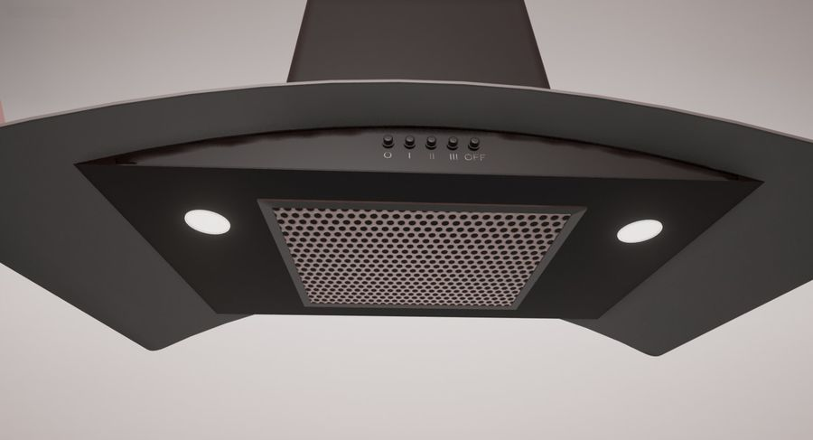 Cooker Extractor Hood royalty-free 3d model - Preview no. 2