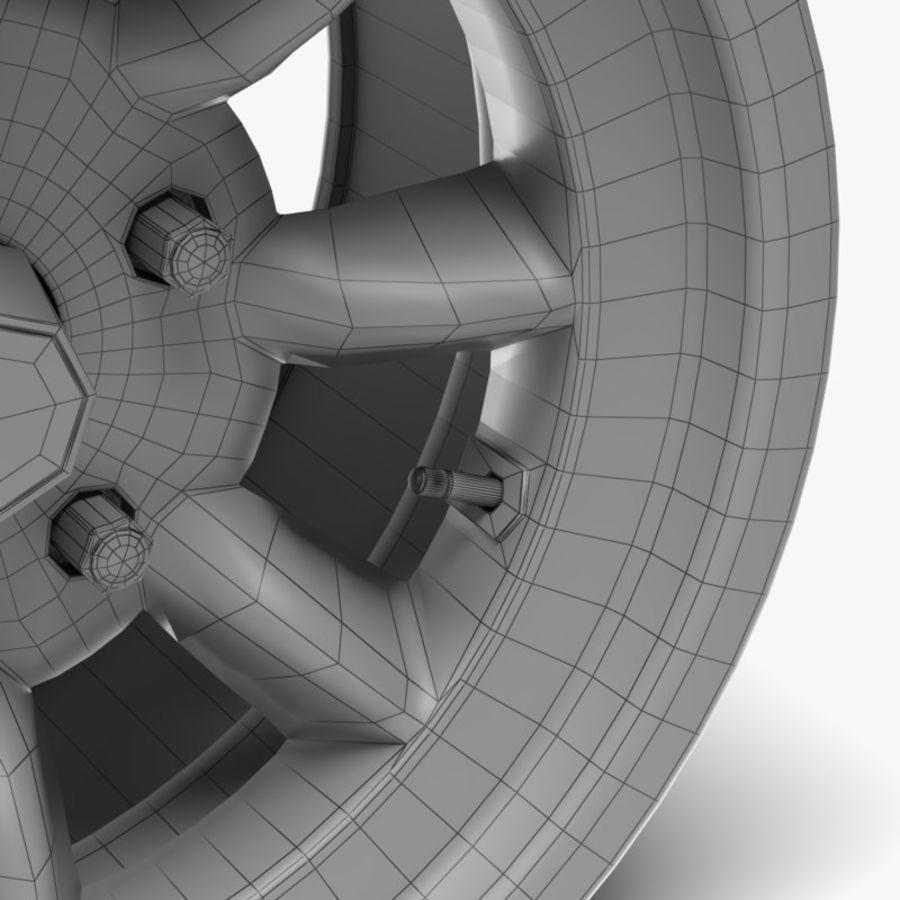 Minilite Wheel royalty-free 3d model - Preview no. 6