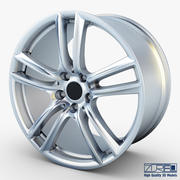 Style 303 wheel silver Mid Poly 3d model