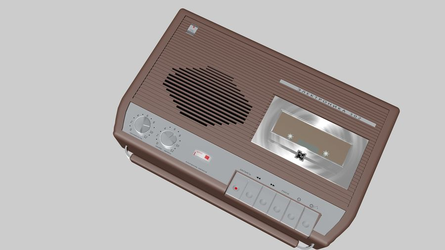 tape recorder electronics royalty-free 3d model - Preview no. 3