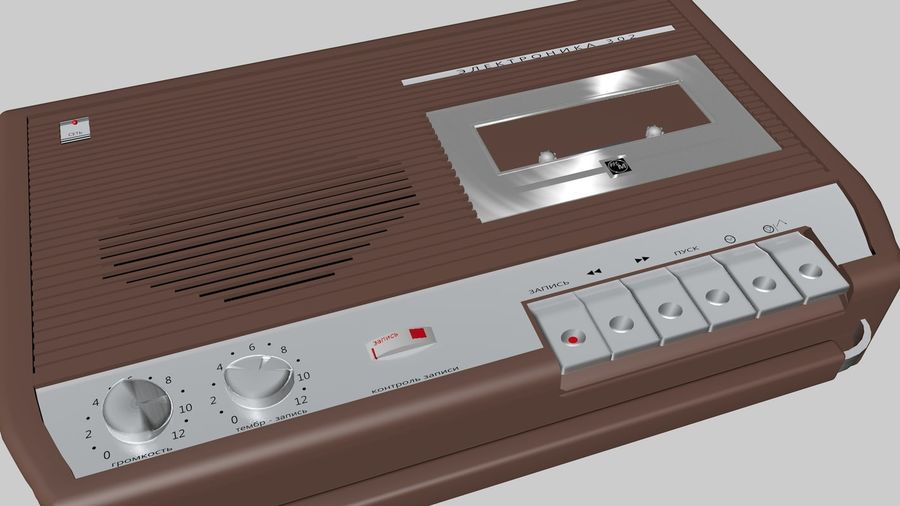 tape recorder electronics royalty-free 3d model - Preview no. 1