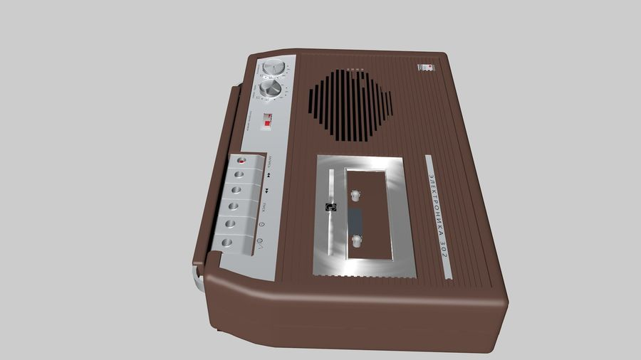 tape recorder electronics royalty-free 3d model - Preview no. 4