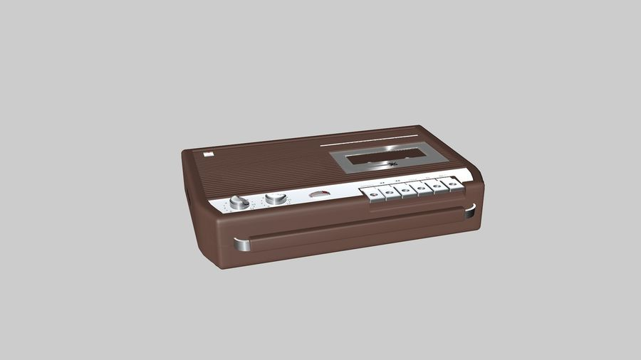 tape recorder electronics royalty-free 3d model - Preview no. 2