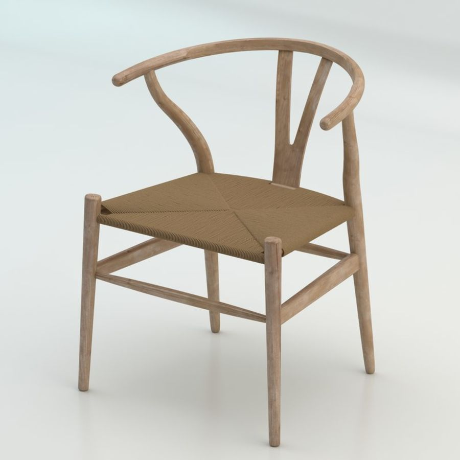 The high quality Scandinavian Wishbone Chair CH24 High Poly model in Light Wood royalty-free 3d model - Preview no. 1