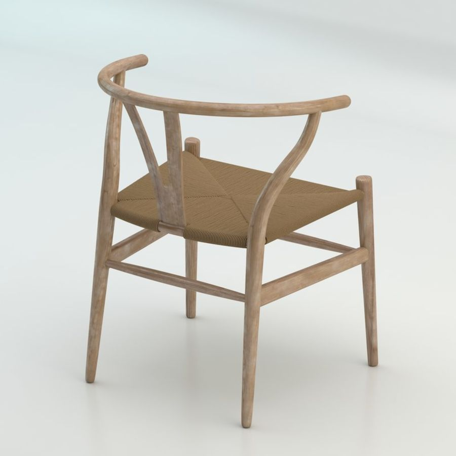 The high quality Scandinavian Wishbone Chair CH24 High Poly model in Light Wood royalty-free 3d model - Preview no. 2
