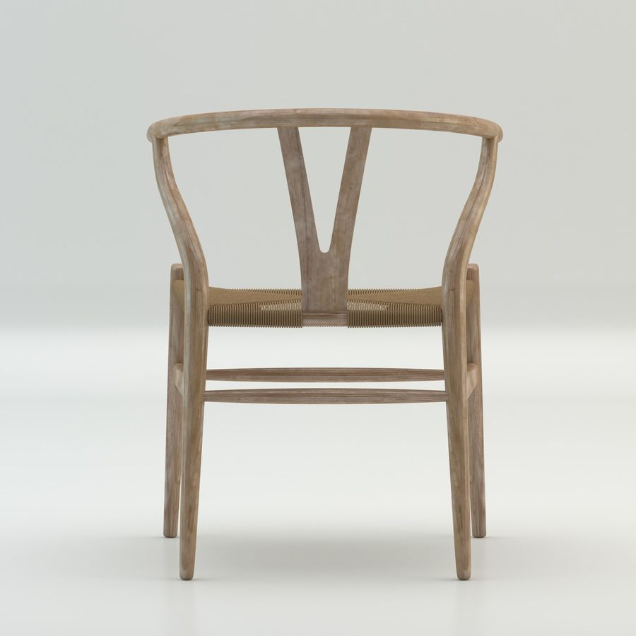 The high quality Scandinavian Wishbone Chair CH24 High Poly model in Light Wood royalty-free 3d model - Preview no. 5