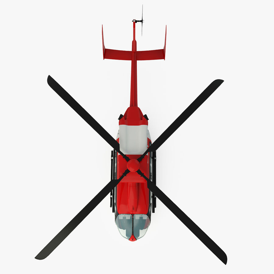 Eurocopter EC145 ou Airbus Helicopters H145 royalty-free 3d model - Preview no. 2