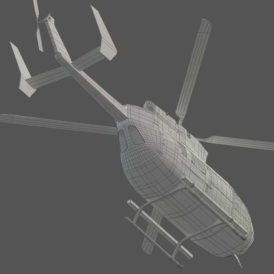 Hélicoptères Eurocopter EC145 ou Airbus H145 royalty-free 3d model - Preview no. 12