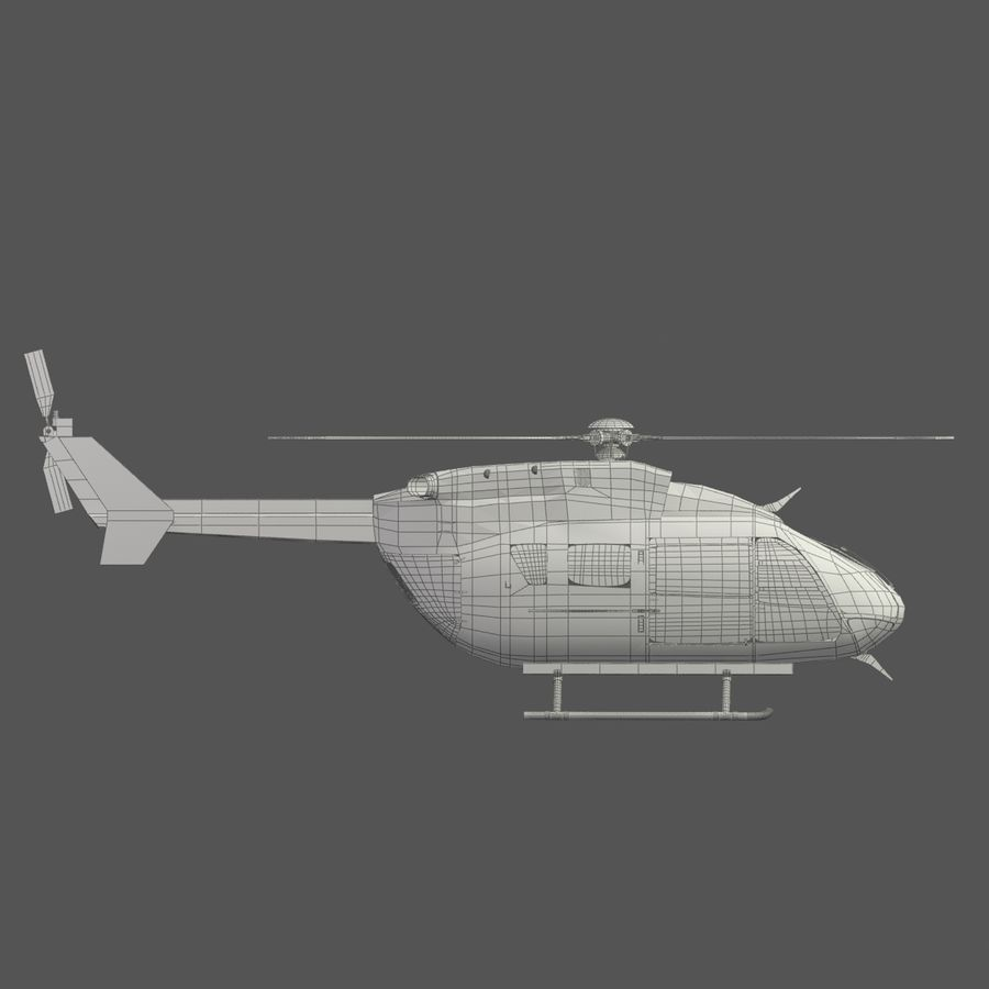 Eurocopter EC145 ou Airbus Helicopters H145 royalty-free 3d model - Preview no. 10