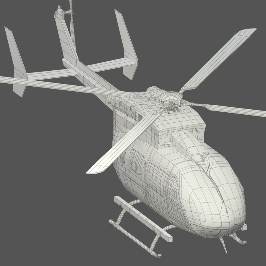 Hélicoptères Eurocopter EC145 ou Airbus H145 royalty-free 3d model - Preview no. 11