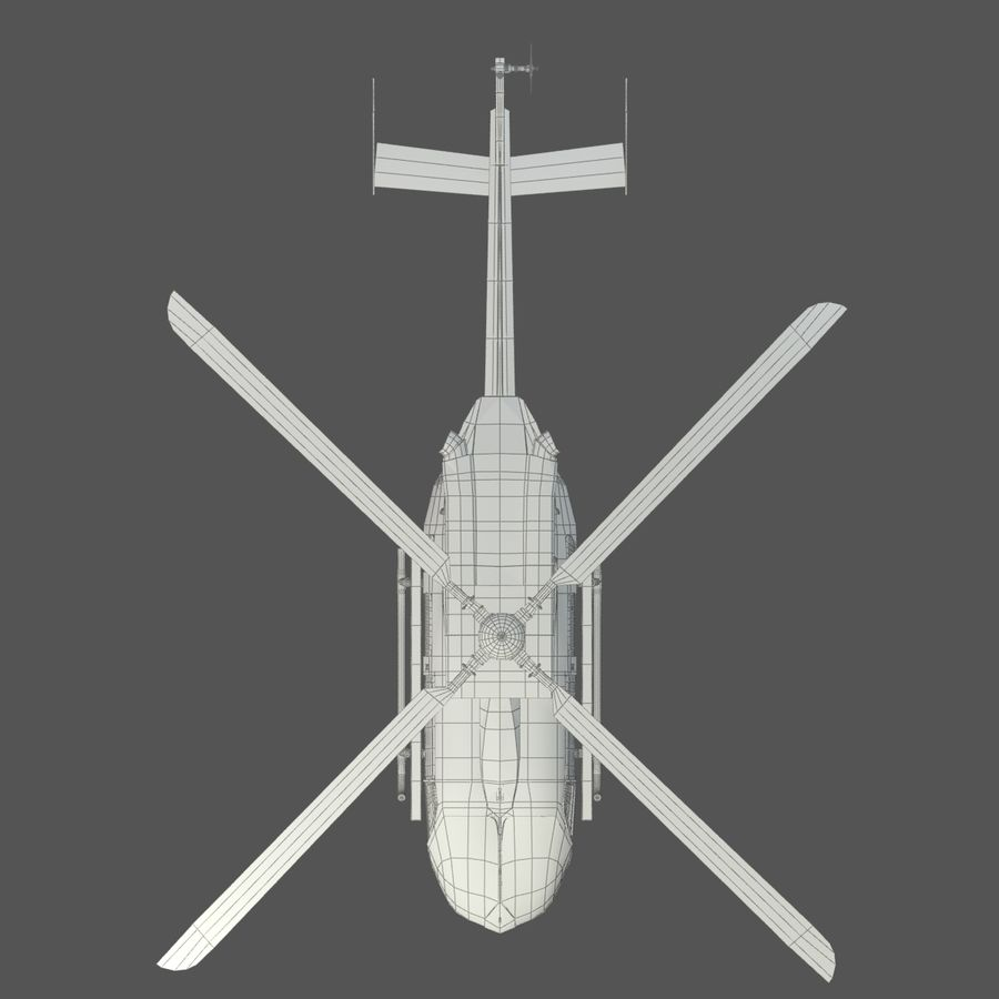 Eurocopter EC145 ou Airbus Helicopters H145 royalty-free 3d model - Preview no. 9