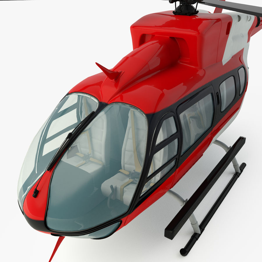 Hélicoptères Eurocopter EC145 ou Airbus H145 royalty-free 3d model - Preview no. 5