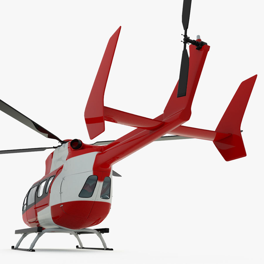 Hélicoptères Eurocopter EC145 ou Airbus H145 royalty-free 3d model - Preview no. 4