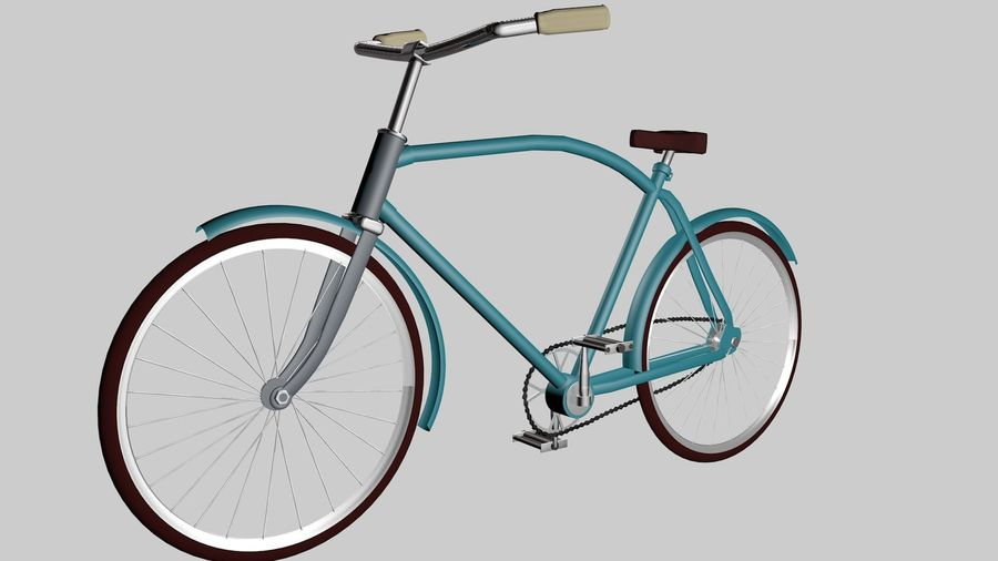 Bicicleta rusa Eaglet royalty-free modelo 3d - Preview no. 2