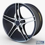 Колесо Style 313 железный серый Mid Poly 3d model