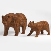 houten beertjesstandbeeld 3d model