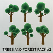 High quality Cartoon Trees and forest pack #2 (AB-pack) 3d model