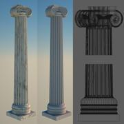 Ionic Corner Column 2 3d model