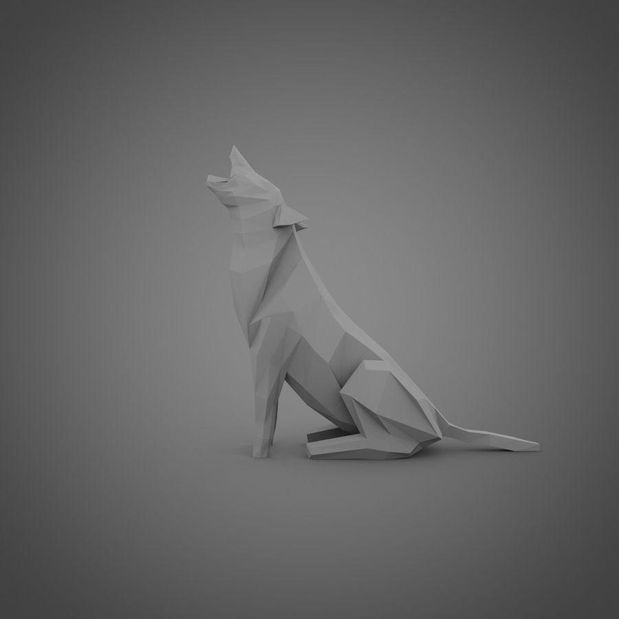 Wolf No.1 royalty-free 3d model - Preview no. 3