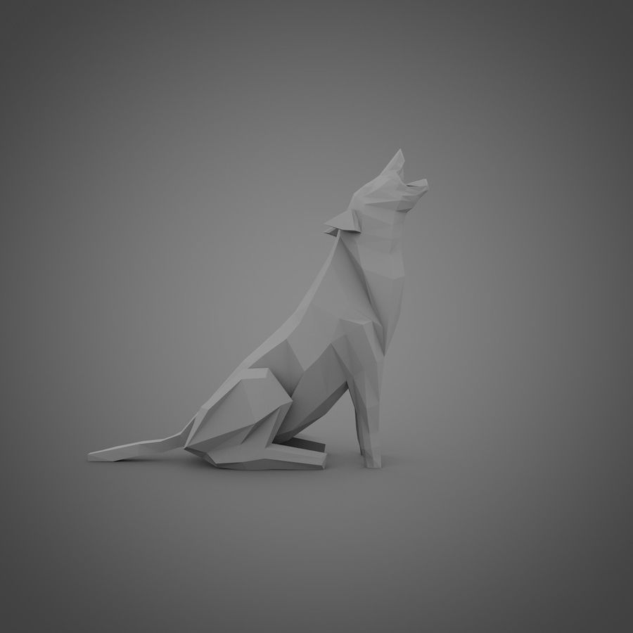 Wolf No.1 royalty-free 3d model - Preview no. 1