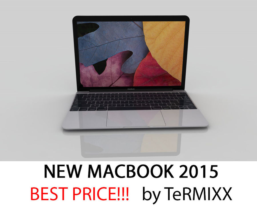 Macbook 2015 royalty-free 3d model - Preview no. 1