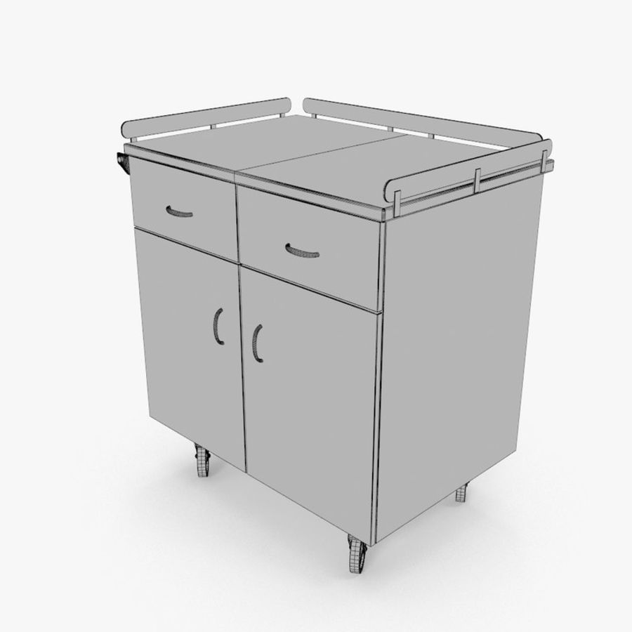 Metal Cabinets M3 royalty-free 3d model - Preview no. 13