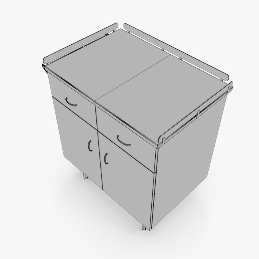 Metal Cabinets M3 royalty-free 3d model - Preview no. 20