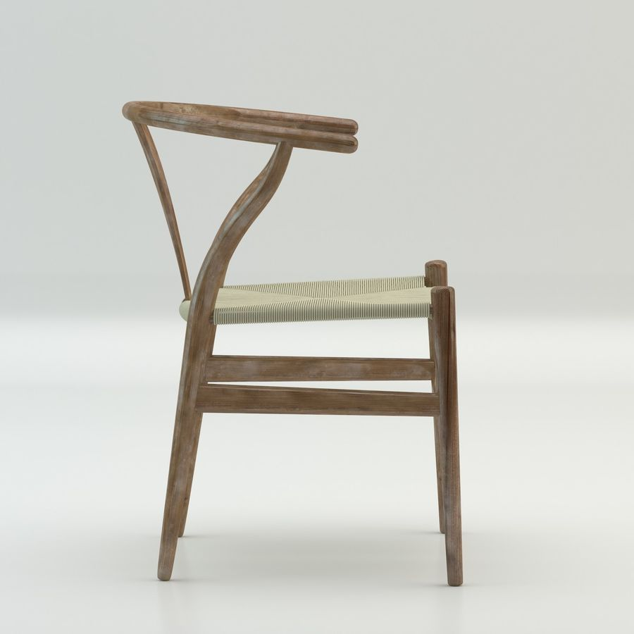 The high quality Scandinavian Wishbone Chair CH24 High Poly model in Brown Wood royalty-free 3d model - Preview no. 4