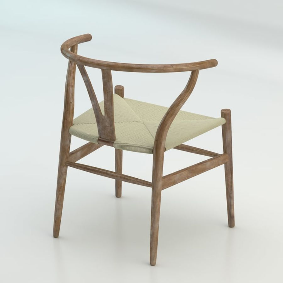 The high quality Scandinavian Wishbone Chair CH24 High Poly model in Brown Wood royalty-free 3d model - Preview no. 2