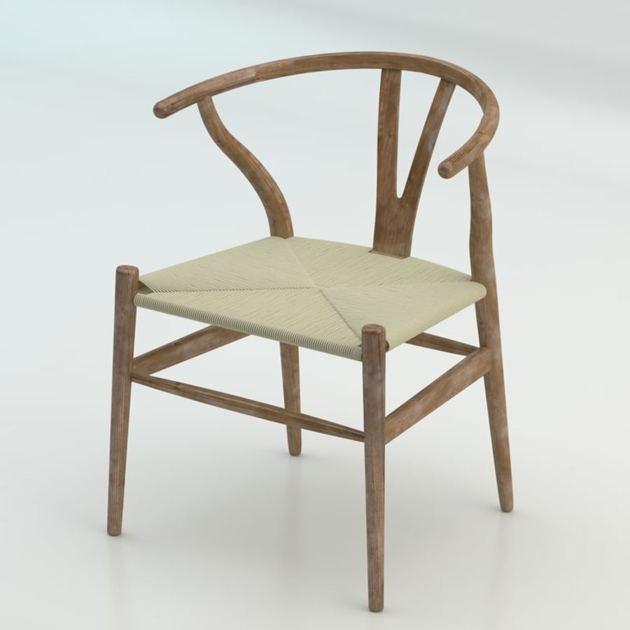 The high quality Scandinavian Wishbone Chair CH24 High Poly model in Brown Wood royalty-free 3d model - Preview no. 1