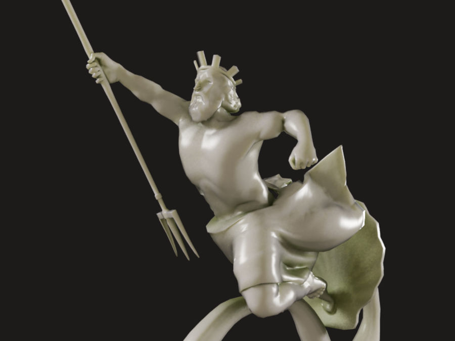 Poseidon royalty-free 3d model - Preview no. 4