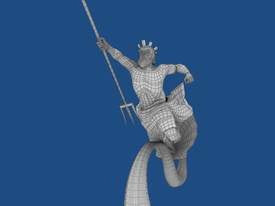 Poseidon royalty-free 3d model - Preview no. 7