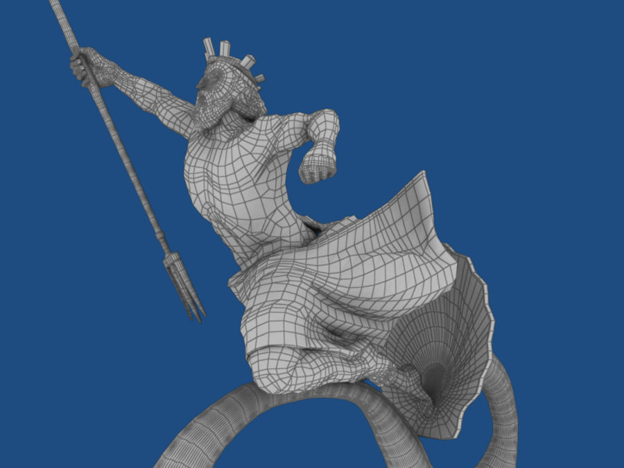 Poseidon royalty-free 3d model - Preview no. 6
