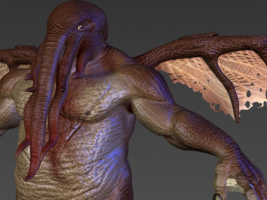 Cthulhu royalty-free 3d model - Preview no. 2