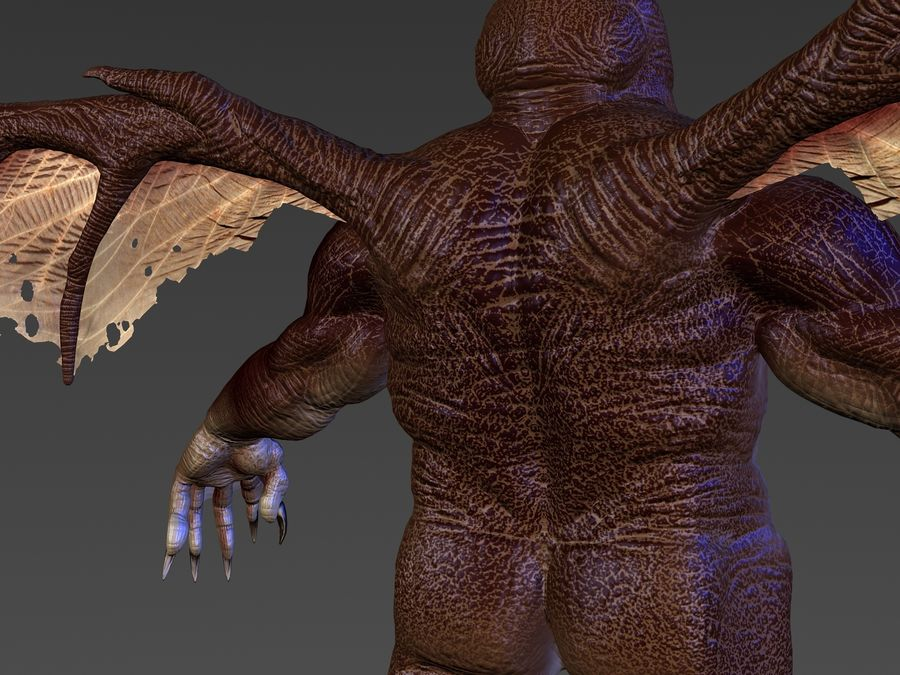 Cthulhu royalty-free 3d model - Preview no. 4