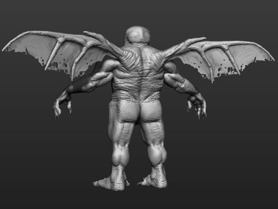 Cthulhu royalty-free 3d model - Preview no. 7