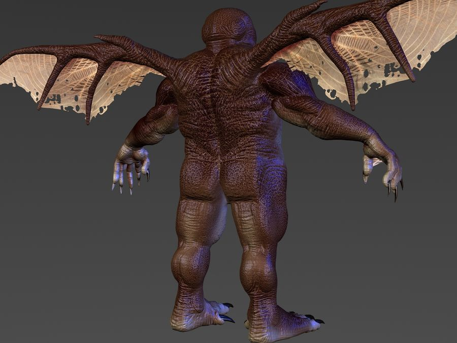 Cthulhu royalty-free 3d model - Preview no. 3