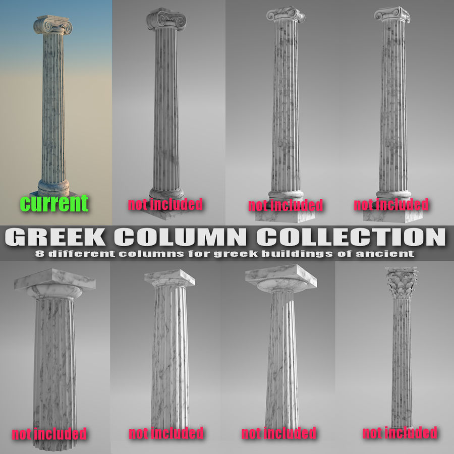 Ionic column 1 royalty-free 3d model - Preview no. 5