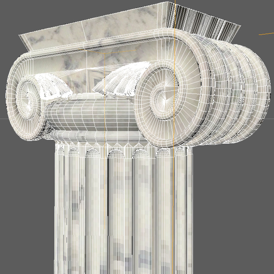 Ionic column 1 royalty-free 3d model - Preview no. 3