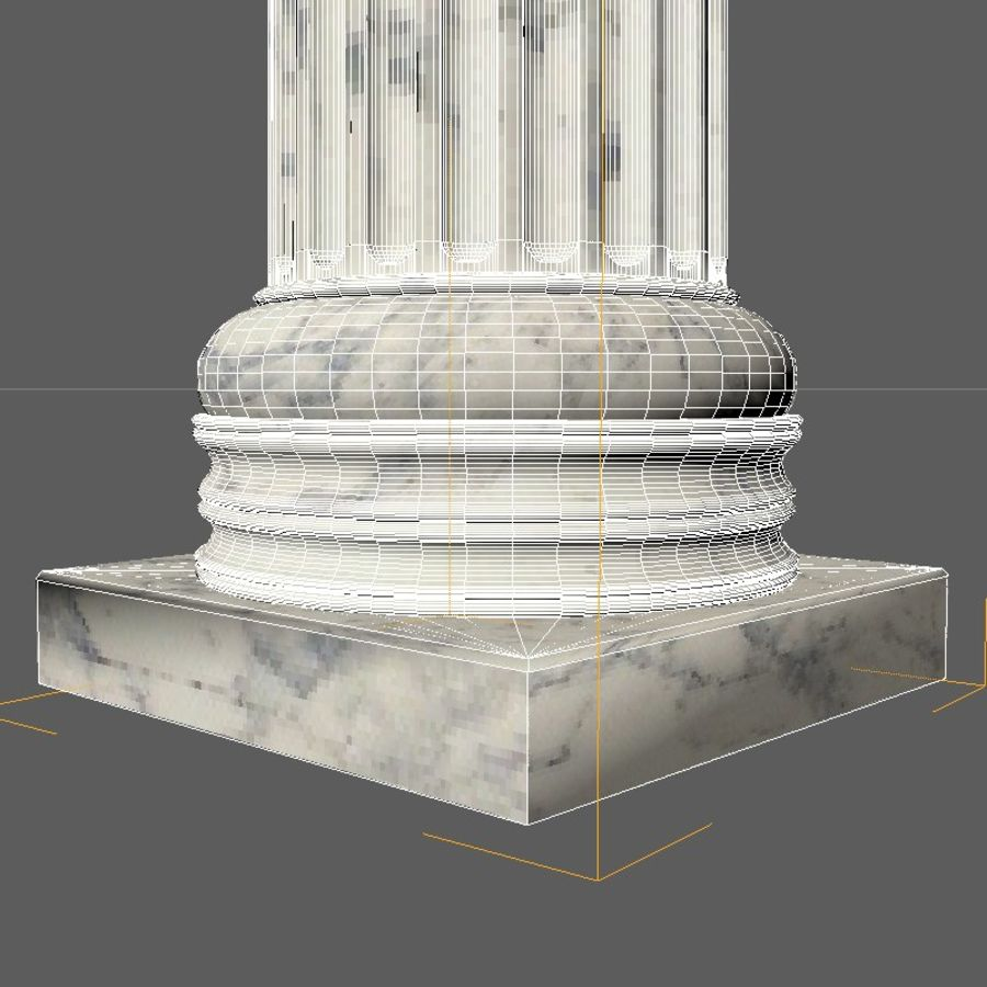 Ionic column 1 royalty-free 3d model - Preview no. 4