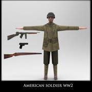 American soldier ww2 3d model