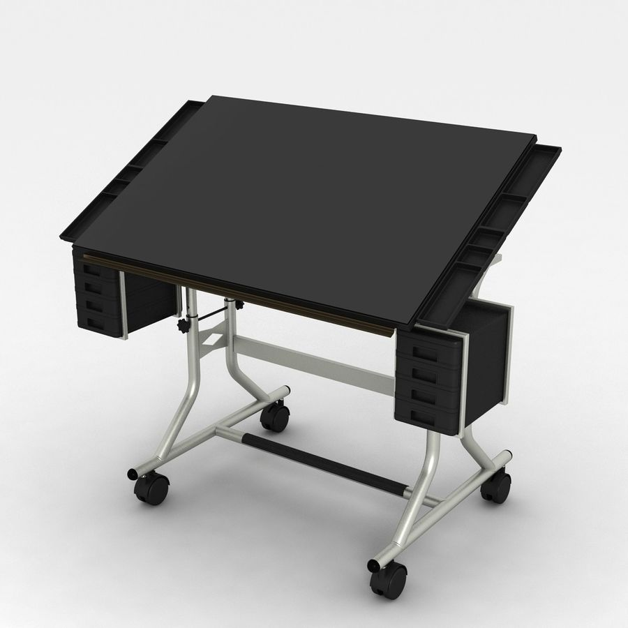 Modern Drafting Table Royalty Free 3d Model   Preview No. 1