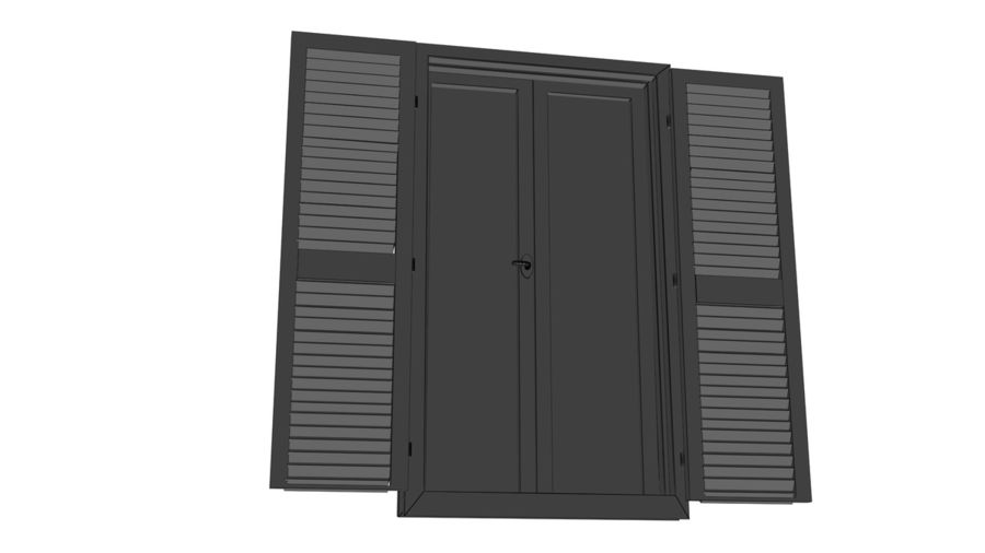 Window Blinds royalty-free 3d model - Preview no. 6