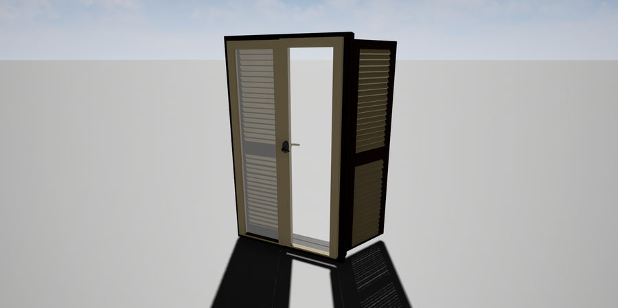Window Blinds royalty-free 3d model - Preview no. 2