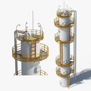 Industriell olja 3d model