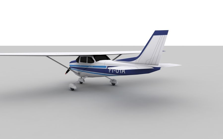 Cessna 172 Low Poly Skin 2 royalty-free 3d model - Preview no. 4