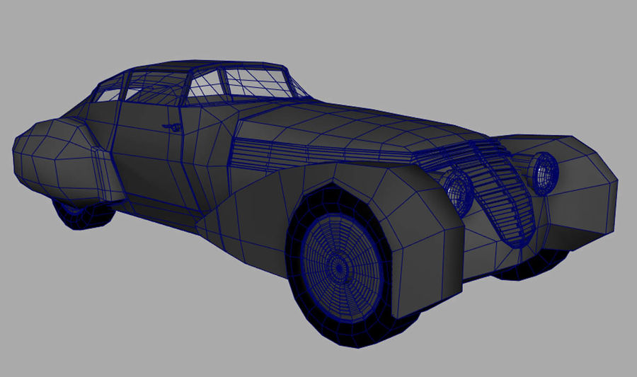 Antique Car royalty-free 3d model - Preview no. 5
